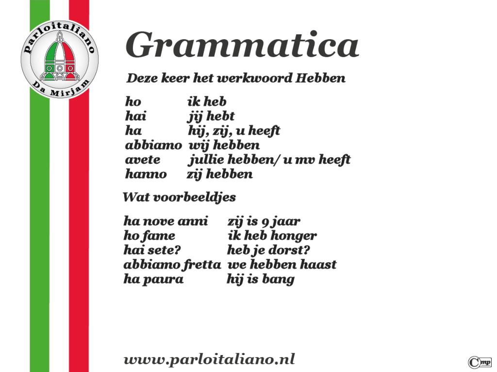 grammatica hebben